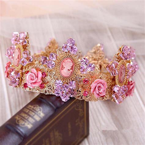 Vintage Purple Wedding Hair Accessories by Vintage Wedding Bridal Purple Crown Tiara Princess Hair