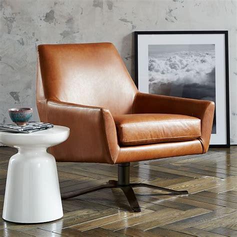 swivel base chair lucas leather swivel base chair west elm