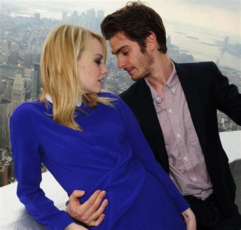 emma stone andrew garfield andrew garfield and emma stone in spider man