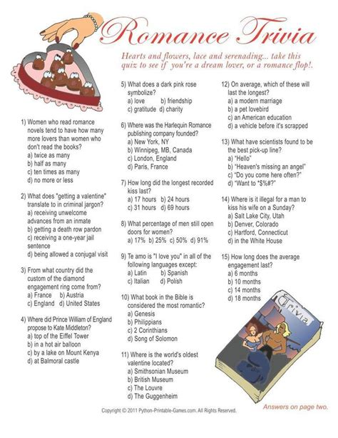 printable retirement games games for lovers trivia 6 95 valentine s day