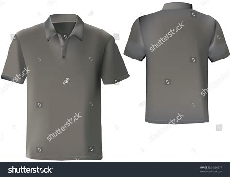 Polo Shirt Template Front And Back black polo shirt design template with front and back