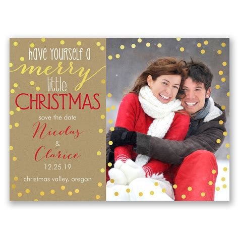 merry christmas holiday card save the date ann s bridal