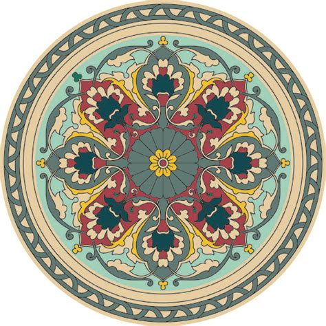 mandala pattern history persian designs syed fawaz ahmed