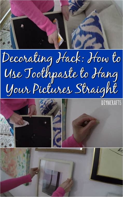 what to use to hang pictures decorating hack how to use toothpaste to hang your