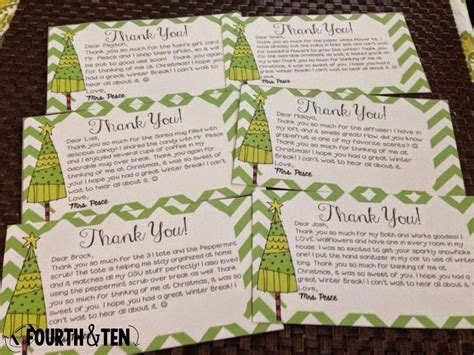 Thank You Note To 4th Grade 36 Best Images About Thank You Notes On Winter Breaks Homework Pass And Thank You Cards