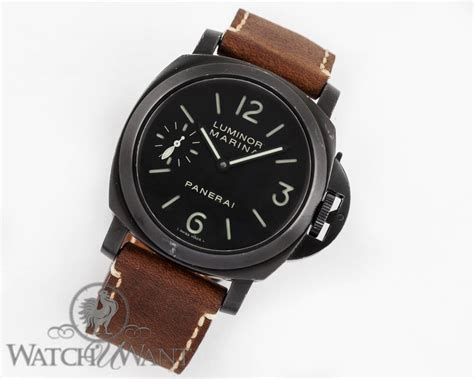 Panerai Pam 111 sold listing panerai pam 111 j luminor marina 44mm quot aftermarket dlc coated quot black stainless