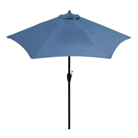 Hton Bay 9 Ft Aluminum Patio Umbrella In Sunbrella Canvas Patio Umbrella