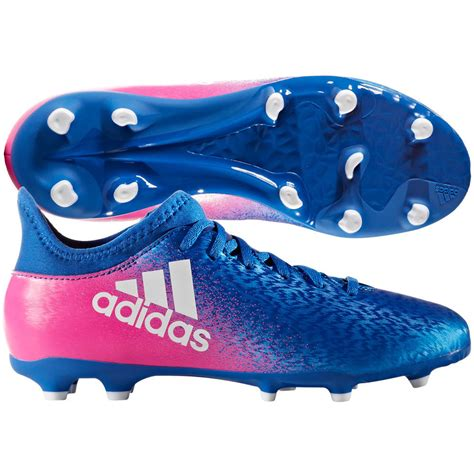 pony football shoes adidas x 16 3 fg 2017 soccer shoes cleats blue pink
