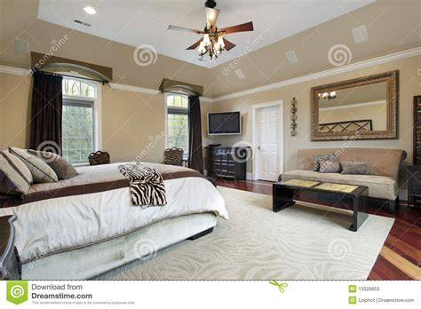 Master Bedroom Tray Ceiling Master Bedroom With Tray Ceiling Stock Image Image 13320653