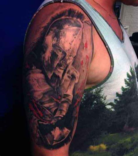 spartan tattoos for men 50 spartan designs for masculine warrior ideas