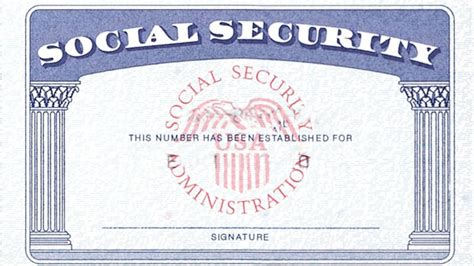 Social Security Card Template by Social Security Denies S Name On Card