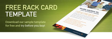 rack card design template free rack card template sle rack card exles