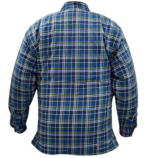Quilted Work Shirts by Mens Quilted Lined Padded Lumberjack Check Flannel Winter