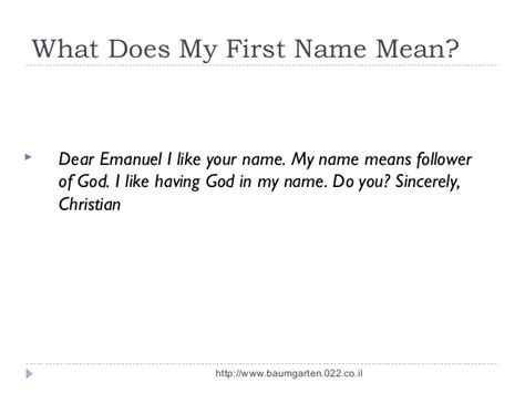 meaning of first names meaning of first names