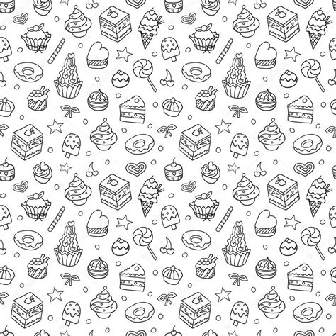 doodle pattern vector vector doodle seamless pattern with bake and sweets