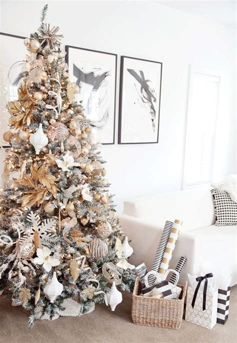 tree decorations gold and white refreshing greenery em s gold and white