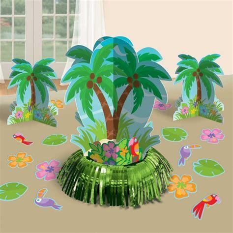 tree table centrepieces hawaiian palm tree table decorations kit