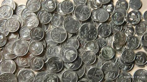 Koin Rp 50 Emisi 1971 bi menarik pecahan logam rp 100 tahun 1973