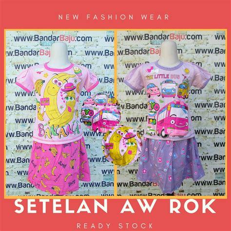 Setelan Rok Anak Setelan Anak Perempuan Baju Anak Kupu Kupu Produsen Setelan Aw Rok Anak Perempuan Murah Bandung 22ribu