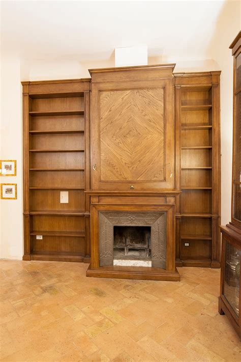 boiserie con camino libreria boiserie con camino inserito realizzata in legno
