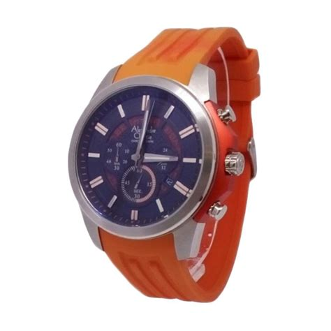 Jam Tangan Pria Reddington 0939 Black Silver harga alexandre christie 142966 chronograph tali karet jam tangan pria silver oranye