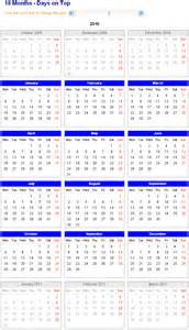 18 Month Calendar Template by 18 Month Calendar Printable Calendar Template 2016