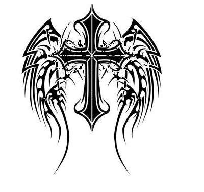 angel wings and cross tattoo designs fonts gallerywings designs