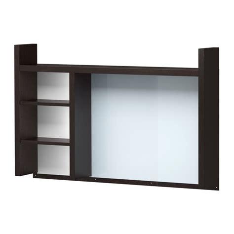 add on desk hutch micke add on unit high black brown ikea