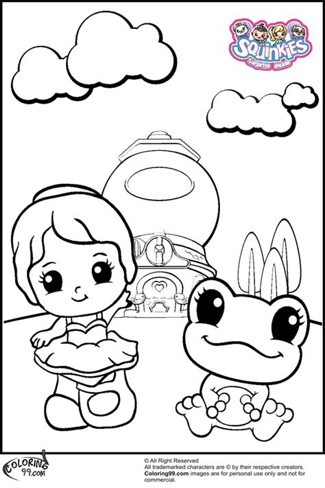 Free Coloring Pages Of Of Squinkies Squinkies Coloring Pages