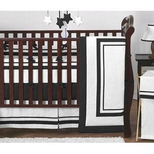 Sweet Jojo Designs Hotel White And Black Collection 9pc Hotel Crib Bedding