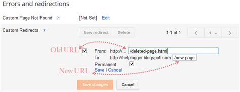 blogger url how to set custom redirects in blogger helplogger
