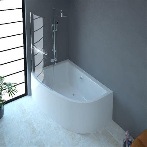 bathroom and bath clia left corner bath and panel screen buy at bathroom city
