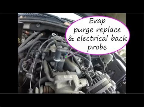 evap purge solenoid   replace check  power