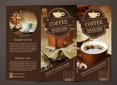 coffee shop brochure template brosur kafe kopi pilihan desain bagus untuk bsnis coffee