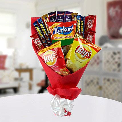 Snack Bouquet Snack Snack Snack Buket High On Snack Bouquet Gift Chocolate Bouquet With Chips