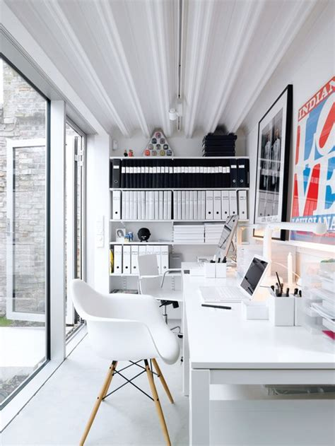 white home office tidy and organized home offices and workspaces to