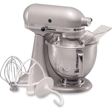 kitchen aid stand mixer kitchenaid metallic chrome artisan 5 quart tilt stand mixer ksm150psmc 50946908366 ebay