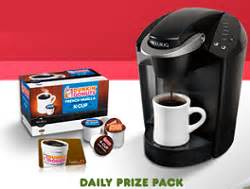 K Cup Sweepstakes - dunkin k cup packs sweepstakes instant win game