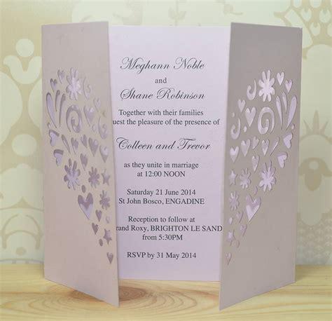 free gate fold wedding invitation templates laser cut gatefold wedding invitation by sweet pea