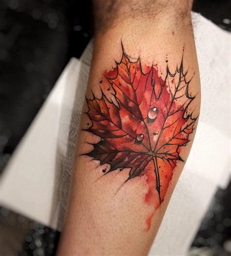 watercolor tattoo leaves best 25 fall leaves ideas on autumn
