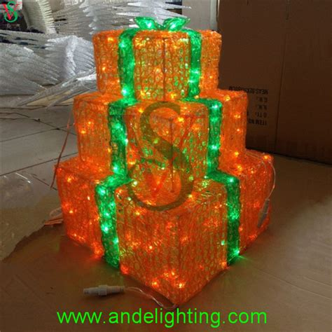 Shopping For Decorative Lights by 2016 New Acrylic Led Gift Box Motif Lights Shopping Mall