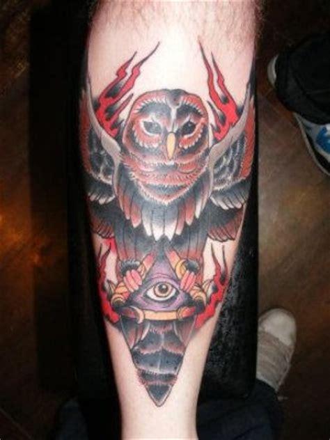 owl tattoo red red owl tattoo