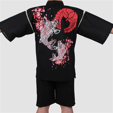 japanese pattern shirt 2017 traditional japanese cotton kimono suit men short