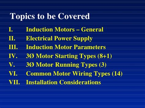 induction motor parameters motor starting