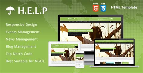 best templates for ngo website help ngo html template by themebazaar themeforest