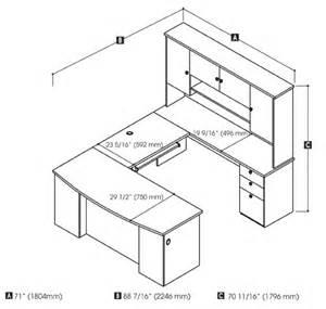 desk measurements hatley u shaped desk with hutch by bestar smart furniture