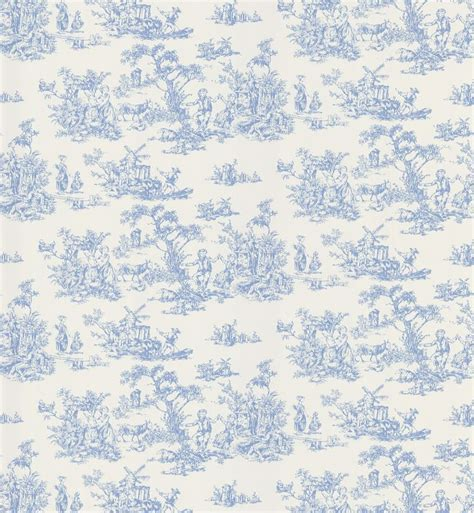 blue and white toile wallpaper 40349253 miniature fabric