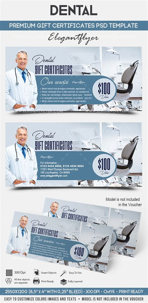 dental gift certificate template by elegantflyer