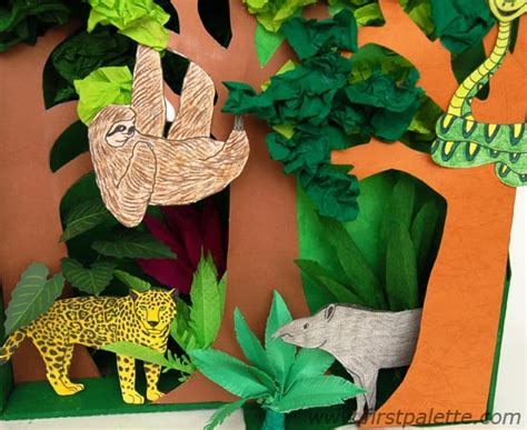 printable trees for diorama rainforest habitat diorama animals are printable rain