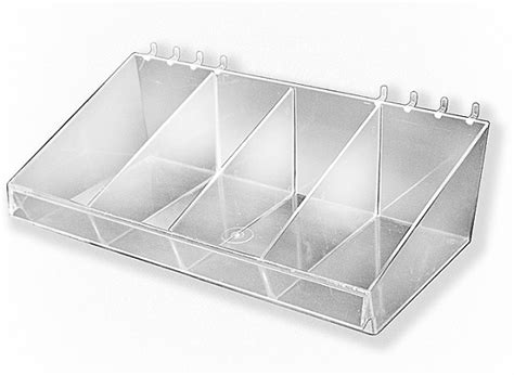 pegboard storage containers large acrylic divider bins containers pegboard